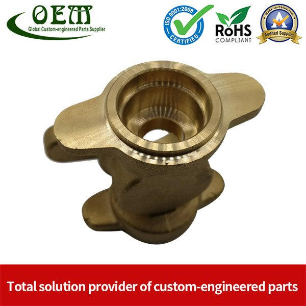 Brass Bearing Housings of CNC Milling Machining Parts Used for Automobile Industry
