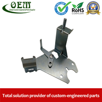 Galvanized Steel Stamping And Laser Cutting Mounting Bracket for Automobile Heating Raditor