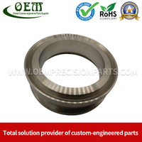 Mil-Spec Stainless Steel Machined Parts Flange for Mining Machinery