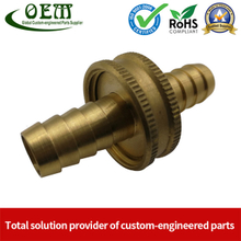 Customized Brass CNC Machining Barbed Fitting Parts Used for Beer Brewage Equipment