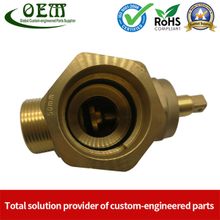Brass Fitting Valve Brass CNC Turned Parts for Pneumatic And Hydraulic Fittings