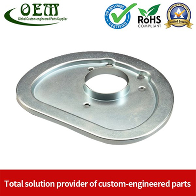 Galvanized Steel Metal Stamping Parts Vacuum Cleaner Cover Plate