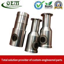 Stainless Steel CNC Milling Machined Tube Coupler for Lawn Mover Exhaust